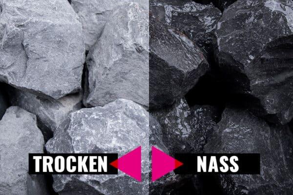 Basalt Stein Steinschlag, 30-60 mm - Muster ca. 1 kg (inkl. *10 € Gutschein)