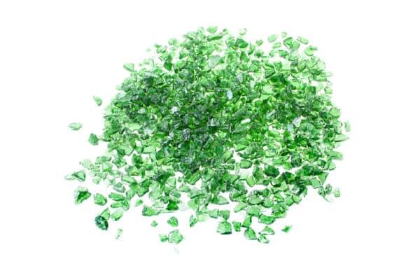 Glassplitt Green, 5-10 mm - Muster ca. 1 kg (inkl. *10 € Gutschein)