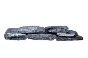 Schiefer schwarz Mauersteine teilweise gespalten, ca. 15-40 kaufen
