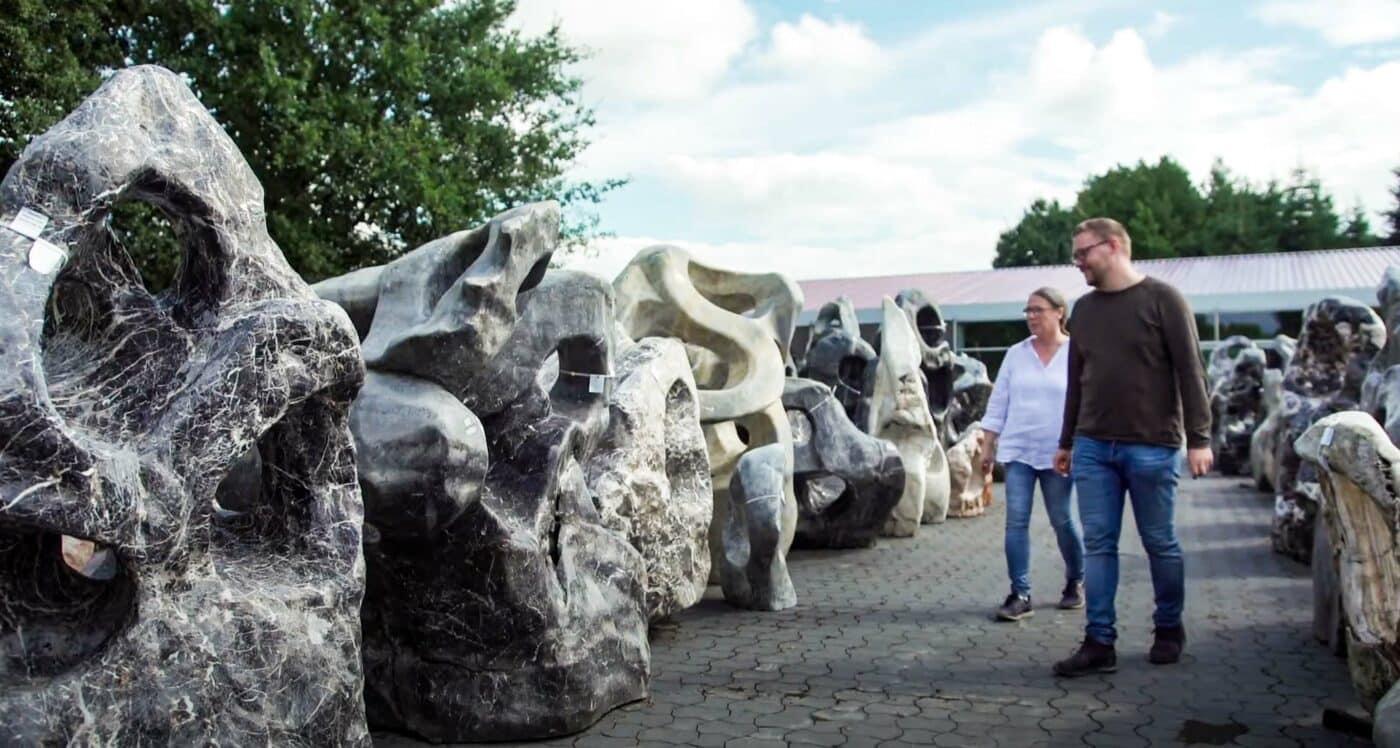 Dekosteine und Steinskulpturen